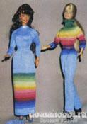 Вязаные игрушки Одежда для барби