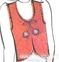 Ажурное фигаро, размер 44-46