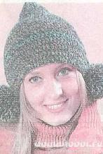 Вязаная шапочка с помпонами