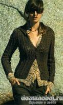 Жакет с ажурными полосами