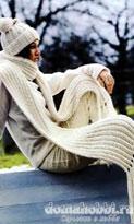 Шапочка и шарф в резинку