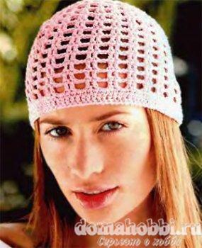 Красивая женская  шапочка