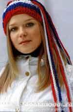 Вязаная шапочка-повязка