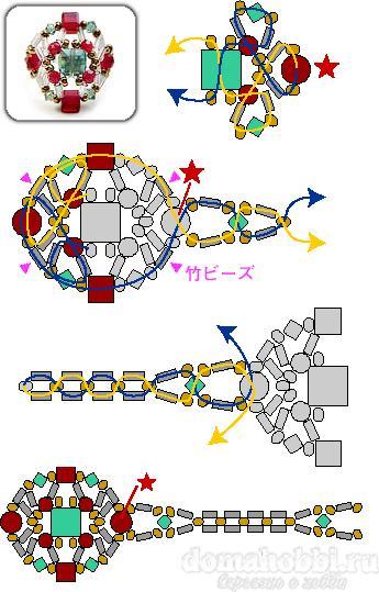 Кольца из бисера (схемы)