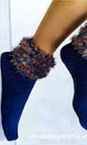 Носки с пушистыми манжетами
