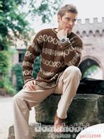 Пуловер с жаккардовыми полосами