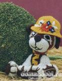 Вязаная игрушка крючком Собачка Рыжик