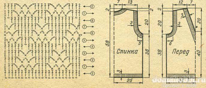 схема сумки тунисским вязанием - Сумки