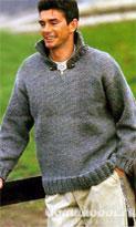 Серый мужской свитер