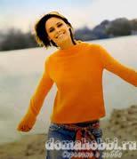 Пуловер с перекрученными рукавами