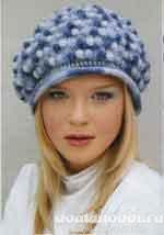 Вязаная меланжевая шапка