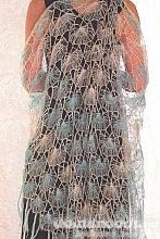 Вязаная шаль из тонкого мохера
