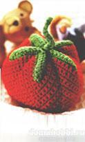 Вязаный мячик-помидор