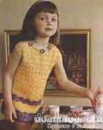Вязаное платье из ириса