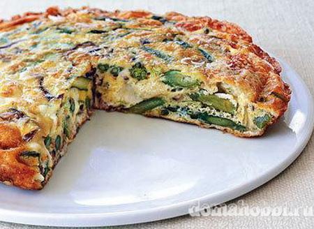 Пирог из лука-парея и сыра