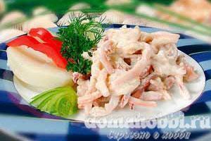 Кальмары в сметанном соусе