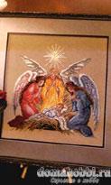 Рождественская схема вышивки крестом