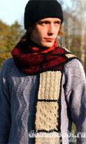 Пуловер, шапка и шарф