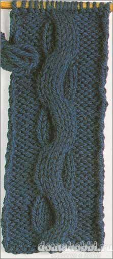 Узор вязания спицами коса змейка woman women ru сайт для