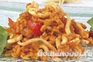 Кальмары с рисом по-креольски