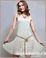 Ажурное платье из льняной пряжи