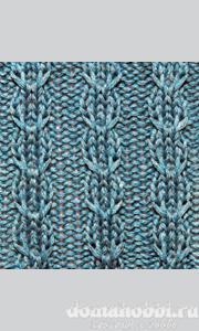 Узоры со снятыми петлями для вязания спицами
