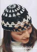 Лёгкая шапочка, вязанная крючком