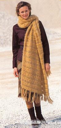 Вязаный шарф-палантин