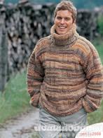 Пуловер с воротником гольф