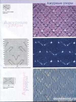 Схемы вязания ажурных узоров спицами