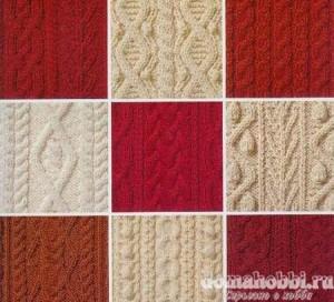 Схемы узоров вязания спицами