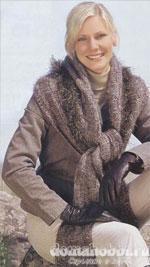 Вязаный шарф – капюшон