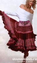 Пестрая юбка