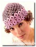 Вязаная ажурная шапка
