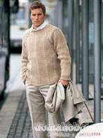 Пуловер с косами по реглану