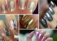 Зеркальные ногти на пике популярности. Как сделать хромовые ногти в домашних условиях
