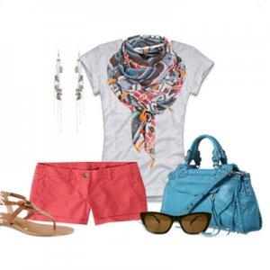 Модные летние шарфы